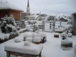 sneeuw, winter, dak
