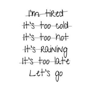 lopen excuses