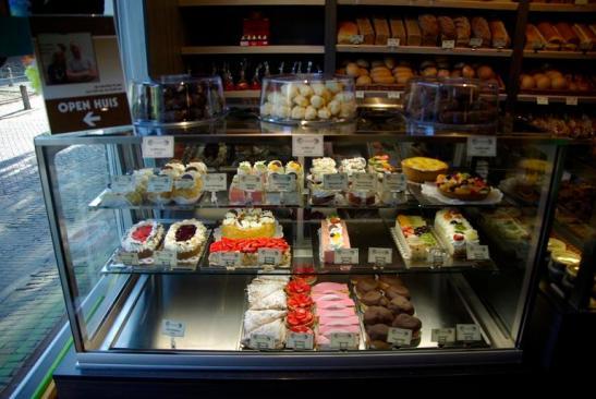 bakkerij met taart