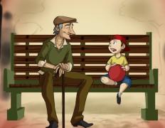 oude man met kind