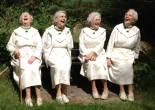 schateren, zusters, bankje augustinessen, santa monica