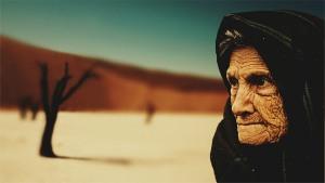 gerimpeld, oud, vrouw